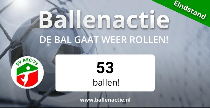 Uitslag Ballenactie!